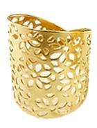 Shein Gold Hollow Flower Ring