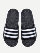 Shein Black Striped Flat Slippers
