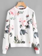 Shein Flower Print Pullover