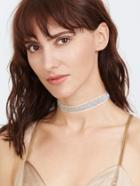 Shein Silver Glitter Sequin Choker Necklace