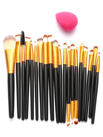 Shein Black Professional Makeup Brush Makeup Tool Set