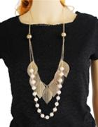 Shein Multilayers Leaf Shape Pearl Necklace