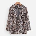 Shein Leopard Print Cuffed Blazer