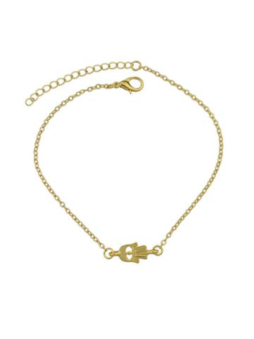 Shein Gold Rhinestone Charm Bracelets & Bangles Women
