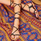Shein Lace Up Knee High Gladiator Sandals