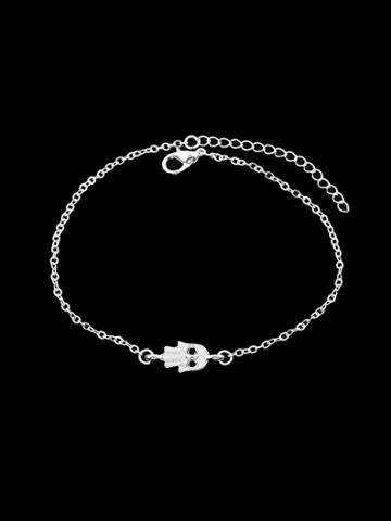 Shein Silver Rhinestone Charm Bracelets & Bangles Women
