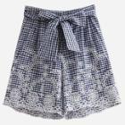 Shein Eyelet Embroidered Gingham Shorts