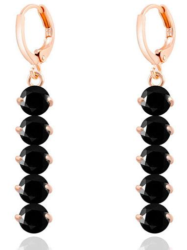 Shein Black Crystals Earrings
