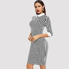 Shein Striped Collar Dress