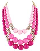 Shein Red Ombre Bead Necklace