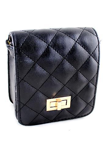 Shein Black Pattern Buckle Satchels Bag