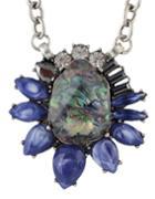 Shein Rhinestone Big Flower Necklace