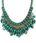 Shein Green Bead Chain Necklace