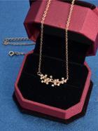 Shein Rosegold Rhinestone Branch Pendant Necklace