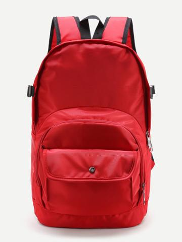 Shein Pocket Front Double Handle Backpack