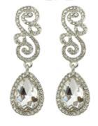 Shein White Rhinestone Women Earrings
