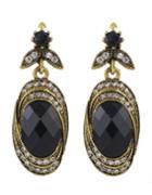 Shein Black Gemstone Stone Earrings