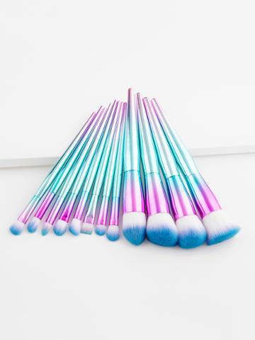 Shein Ombre Handle Makeup Brush Set 12pcs