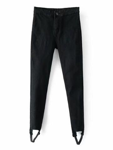 Shein Skinny Stirrup Jeans
