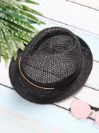 Shein Black Vintage Mesh Wide Brim Hat