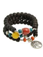 Shein Black Bohemian Beads Chain Bracelets For Women