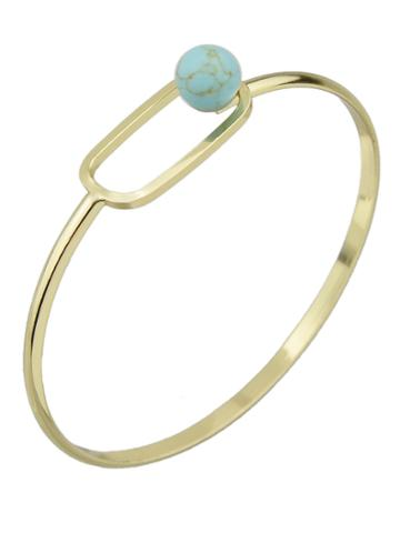 Shein Blue Color Turquoise Thin Bangles Bracelets