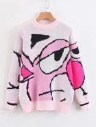 Shein Cartoon Print Jumper Sweater