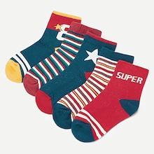 Shein Toddler Kids Striped Socks Set 5pairs