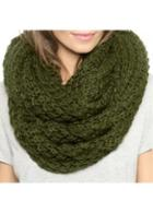 Rosewe Green Knitting Wool Winter Circle Scarf