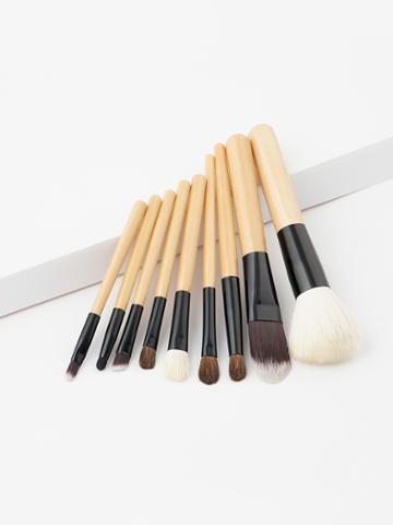 Shein Two Tone Handle Makeup Brush 9pcs
