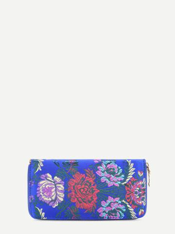 Shein Flower Embroidery Satin Wallet