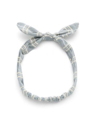 Shein Knot Bow Gingham Print Headband