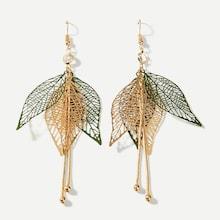 Shein Layered Hollow Leaf Drop Earrings