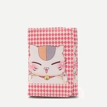 Shein Kids Cat Print Fold Over Wallet
