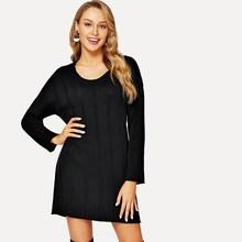 Shein Solid Knit Dress