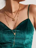 Shein Cross & Star Pendant Layered Chain Necklace