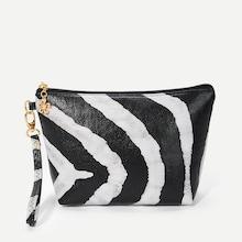 Shein Two Tone Striped Makeup Bag