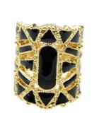 Shein Black Hollow Out Bangle Ring