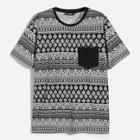 Shein Men Pocket Patched Paisley Tee