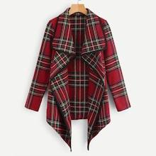 Shein Plaid Waterfall Outerwear