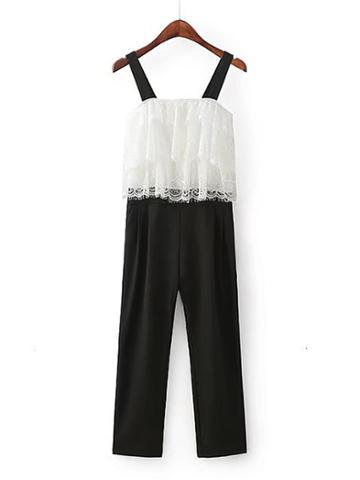 Shein Contrast Lace Jumpsuit