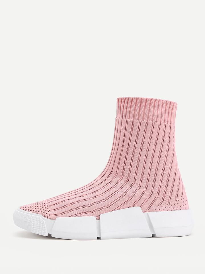 Shein Knit Sock High Top Sneakers