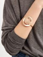 Shein Gold Plated Smiley Face Wrap Bangle