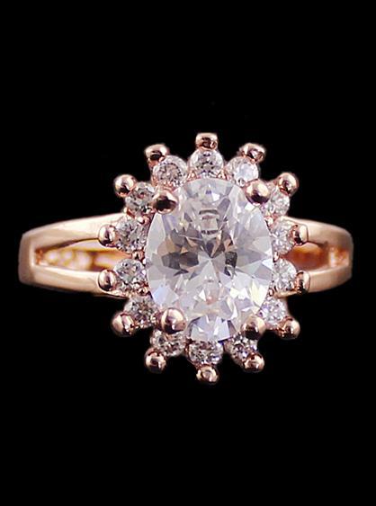 Shein Gold Diamond Sun Ring