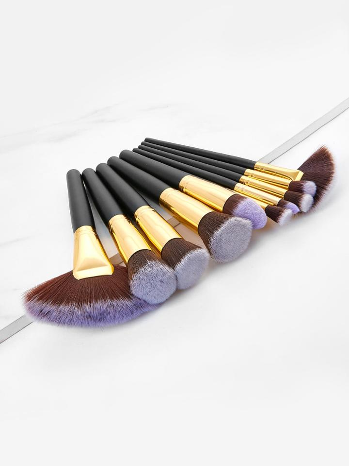Shein Two Tone Makeup Brush 10pcs