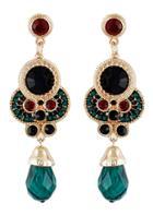 Shein Green Gemstone Gold Vintage Earrings