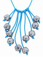 Shein Fringe Metallic Beads Handmade Necklace
