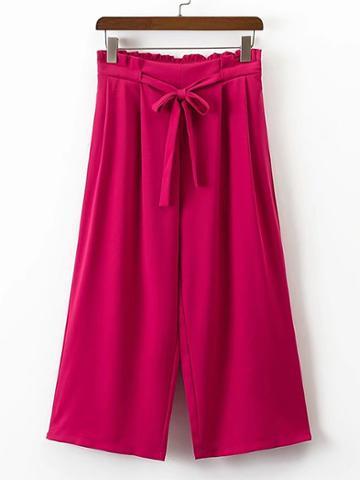 Shein Wide Leg Capri Pants