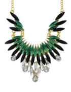 Shein Green Gemstone Beautiful Necklace