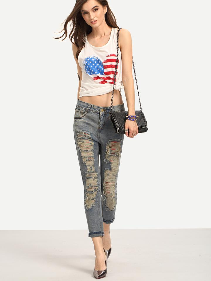 Shein Ripped Skinny Jeans